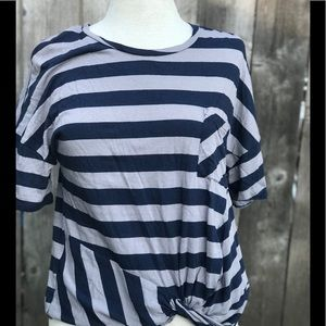 Lucky Brand Striped Top, Size S